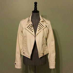 Rocawear Jackets & Blazers - {Roca Wear} Vegan Leather &Studded Moto Jacket