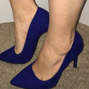 Charlotte Russe Shoes - Charlotte Russe blue sexy high heels !