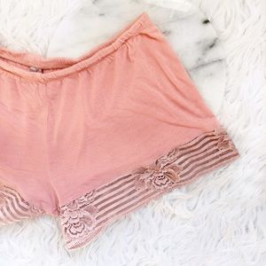 La Perla Pants - • La Perla • Lace Peach Shorts