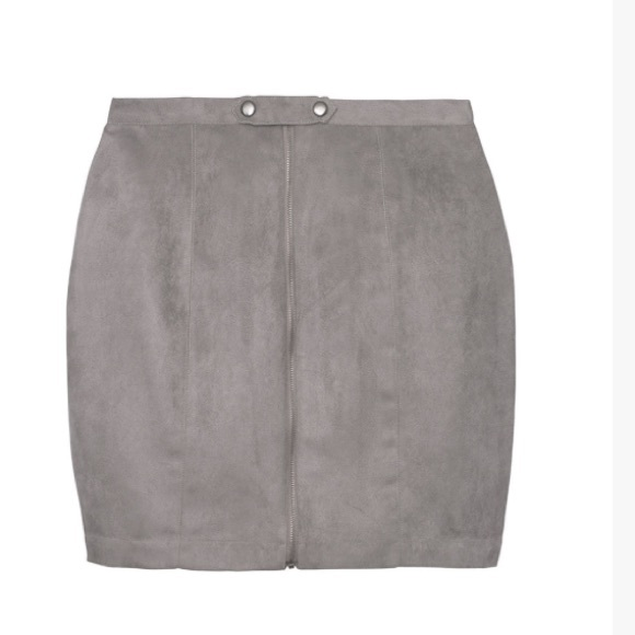 58% off Olive & Oak Dresses & Skirts - Grey Suede Mini Skirt from ...