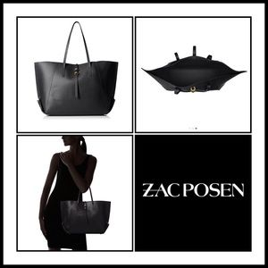 Zac Posen Handbags - Zac Posen Eartha Folded Gusset Shopper Tote Black