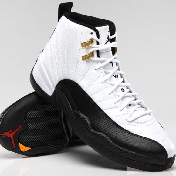 best sneakers ef0a0 d7e03 Air Jordan Taxi 12's- Black/White