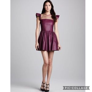 RED Valentino Dresses & Skirts - $1195 VALENTINO Lace & Leather Party Dress