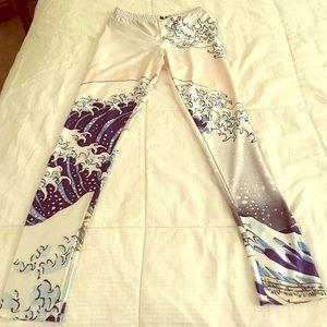 Blackmilk Pants - Hokusai the great wave Blackmilk-style leggings 🌊