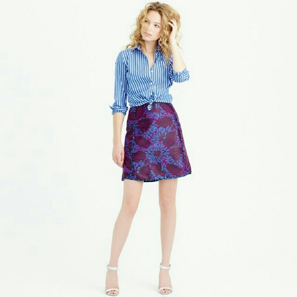 0e8bcda3ab60 J. Crew Dresses & Skirts - J. Crew Midnight Floral Jacquard Mini Skirt