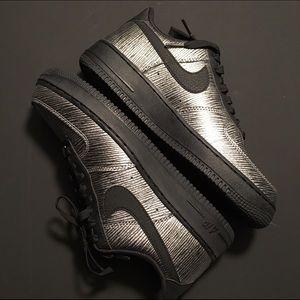 Nike Women's Air Force 1 Metallic Silver & Black
