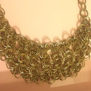 Cara Couture Jewelry - Gold link bib necklace