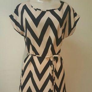 Dresses & Skirts - Cream and black stripes dress