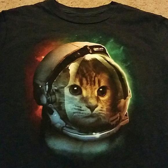19d1f1814 Hybrid Shirts & Tops | Boys Xl Space Cat Tshirt | Poshmark