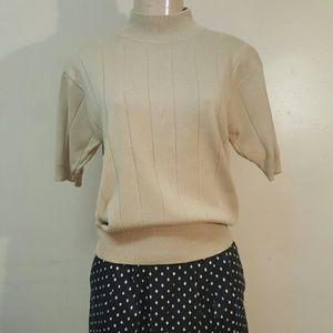 Tops - Cream blouse vintage