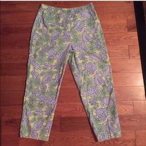 Lilly Pulitzer Pants - Lilly Pulitzer crab & lobster nautical Capri pants