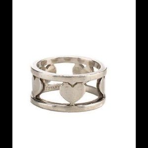 Tiffany & Co. Jewelry - Tiffany & Co. Heart designer Sterling silver ring