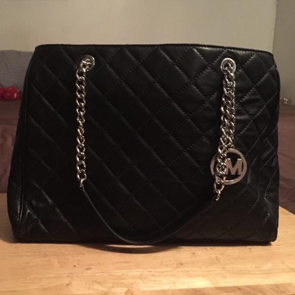 30% off Michael Kors Handbags - Michael Kor lamb skin quilted Tote ... : michael kors black quilted handbag - Adamdwight.com