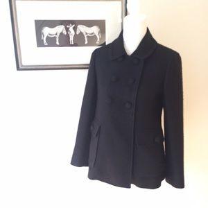 Martin + Osa Jackets & Blazers - Martin & Osa black wool sparkle jacket sz6 medium