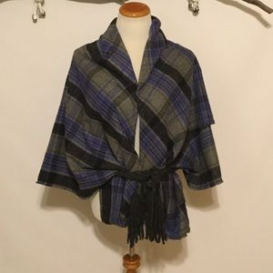 Accessories - Hello Winter Plaid Blanket Wrap