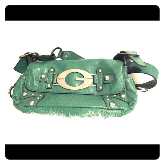 Guess green purse