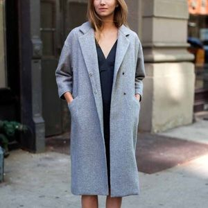 Emerson Fry Drop Shoulder Coat in Granite