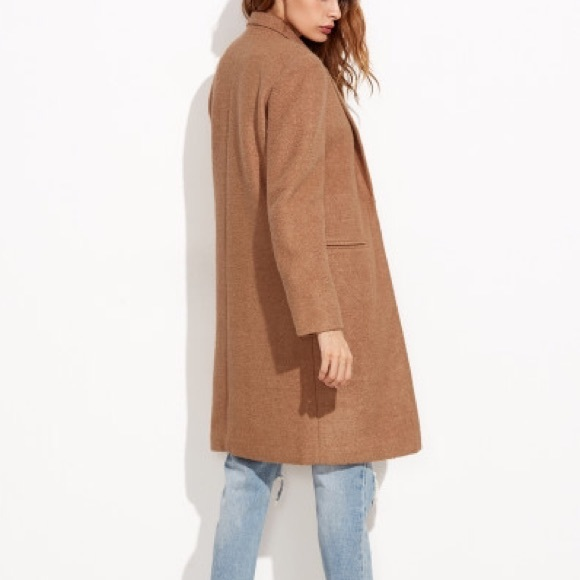 57% off Jackets & Blazers - Camel Car Coat from Shein from Leigh's