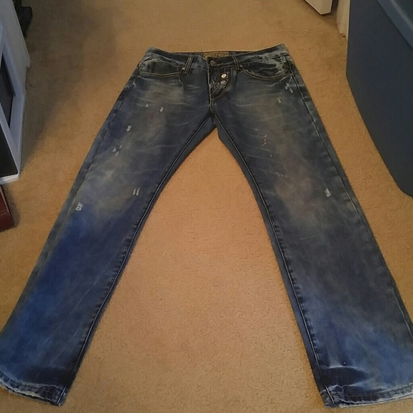 "Takeshy Kurosawa Jeans - Takeshy Italy Designer Jeans Distressed 31""x31"""
