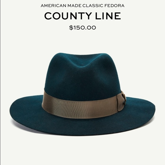 230c4e2d69b14 Goorin Bros. Accessories - Goorin Bros. County Line felt fedora in deep teal