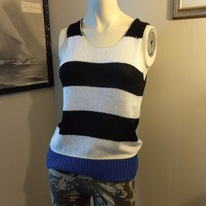 Andrea Jovine Tops - Stripey Sweater Tank