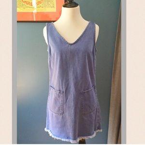 New Look Dresses & Skirts - New Look Petite Denim Jumper Sleeveless Dress