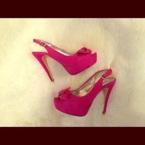 Shoes - ❤️Beautiful bow sling back heels❤️