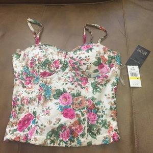 Tops - Floral corset New with tags