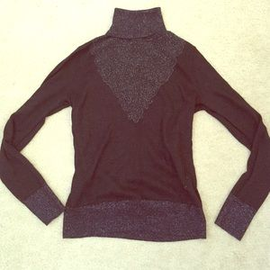 Sparkly Black Turtleneck Sweater