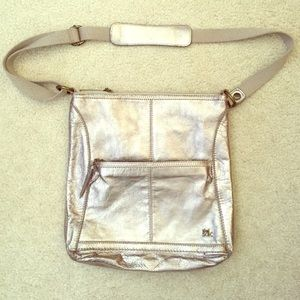 The Sak Crossbody Silver Purse