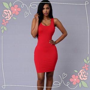 Fashion Nova Dresses & Skirts - Main Chick Dress-Red