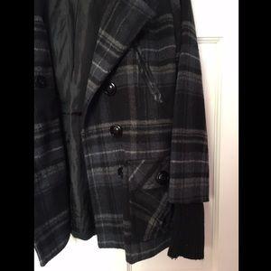Grane Jackets & Blazers - ❄️END OF SEASON❄️ Plaid Button Up Peacoat