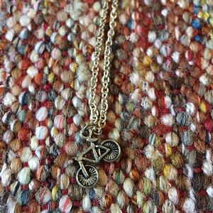 Jewelry - Bicycle silver charm necklace
