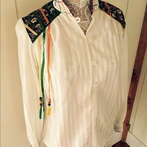 Totally unique vintage hippy blouse