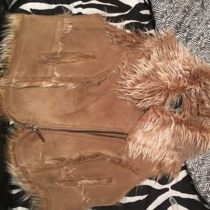 Tan Fur interior vest !!!