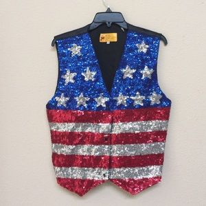 American Flag Vest made with Sequence!