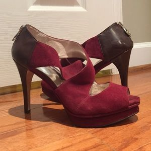 Michael Kors Ariel Suede Platform Sandal, Sz 9.5