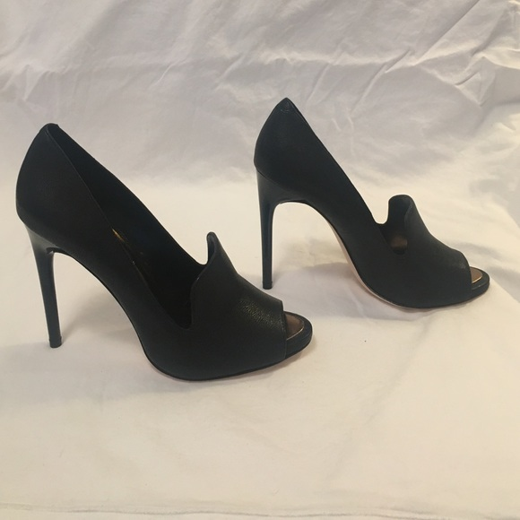 487ef136a69 BCBG Peep-Toe Loafer Pump MA- Demie size 7 black NWT