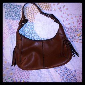 Handbags - VTG BROWN FRINGE AND COGNAC FAUX LEATHER  Bag