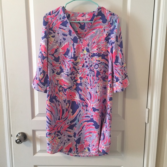 4b6f3d8bab5 Lilly Pulitzer Dresses & Skirts - Lilly Pulitzer Shrimply Chic Arielle Tunic  dress