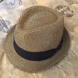 Black and Tan Panama Hat