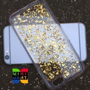 Accessories - Gold flakes iPhone 5/5s/6/6s/6+/7/7+ Case