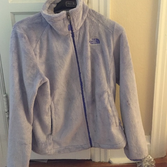 54512c445 Fuzzy light purple north face jacket