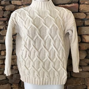 525 america Sweaters - Chunky Funnel Neck Cable Knit Sweater