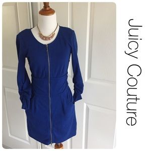 Juicy Couture Dresses & Skirts - Juicy Couture cobalt zipper dress with pockets S