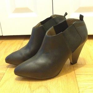 Mango Leather Booties with Antiskid sole added