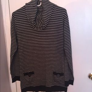 Contact New York Sweaters - NEW Cowl Neck Pocket Front Tunic Medium