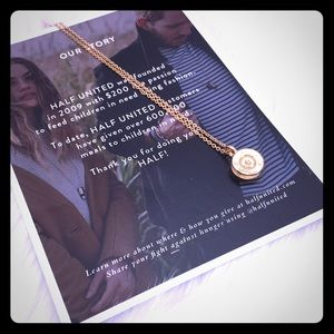 """Half United Jewelry - Half United Tiny top bullet gold necklace 30"""""""