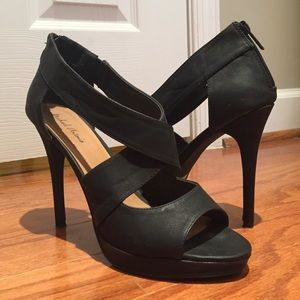 Michael Antonio Black Open Toe Heels, Sz 10.