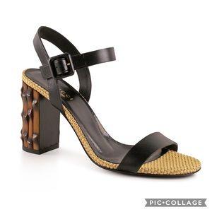 e406a4ce14f Gucci Shoes -  799 Gucci Dahlia Black Leather Bamboo-Heel Sandal